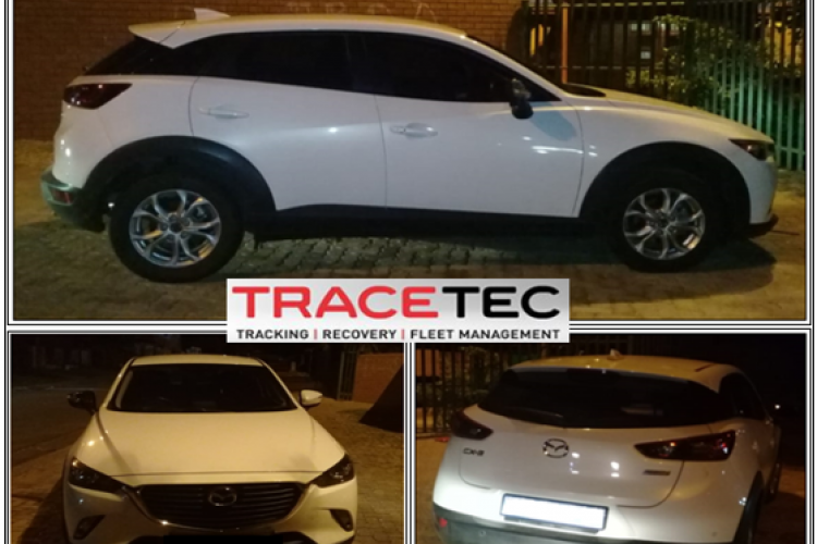 Recovered Mazda CX3